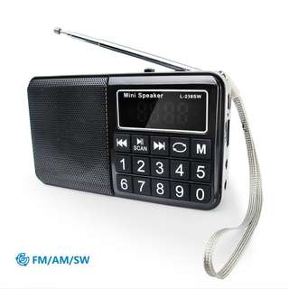 272. PRUNUS Portable SW/FM/AM (MW) MP3 (USB/Micro SD/TF) Radio with Neodymium Speaker