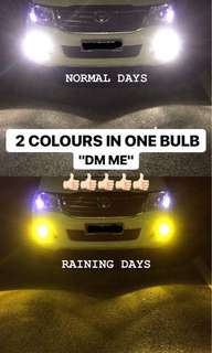 H11 DUAL COLOUR LED BULB