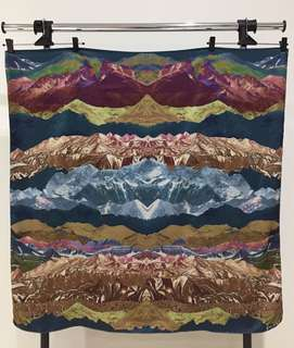 Scarf / hijab persegi - green mountain
