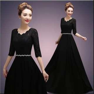 Long Black Evening Dress ( Brand new )
