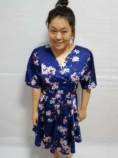 Plus size blossom kimono dress