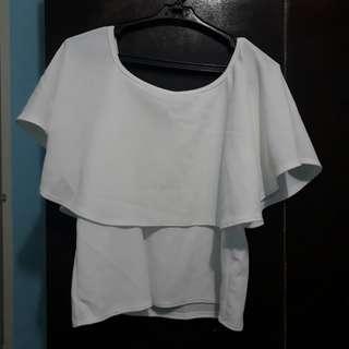 White off-shoulder