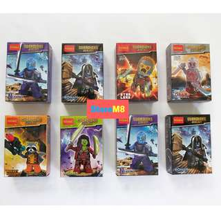 GUARDIAN MOVIE LEGO LIKE COLLECTION - SET 8PCS
