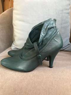Nine West Teal Leather Booties