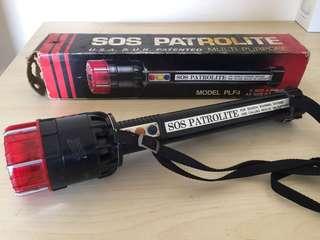 🚚 早期80年代軍用手電筒保安人員電擊器兩用
