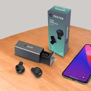 Proton Wireless Earbuds with charging case :) For android and ios unit laptops too :)