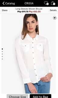 Crissa White longsleeves blouse large