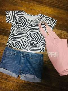 Zebra Cotton Cropped Top