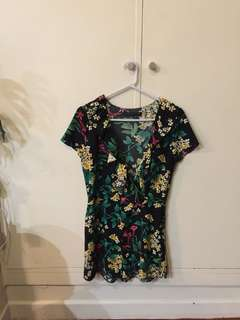 Zara woman floral dress