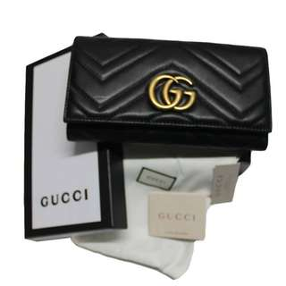 9A GUCCI GG MARMONT FLAP WALLET