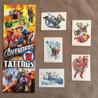 The Avengers Temporary Tattoos
