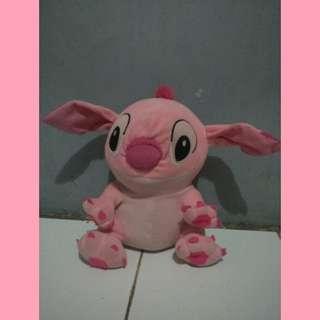 Boneka stich pink kecil
