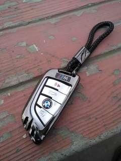 🚚 BMW M power X5 F15 F22 F45 F46 218 G11 寶馬 晶片 鋅合金材質  鑰匙包 刀峰款