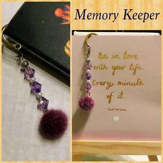 Handmade Bookmark Charm - Purple Hues