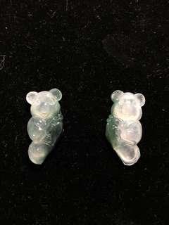 冰種帶綠 稀有無尾熊 一對