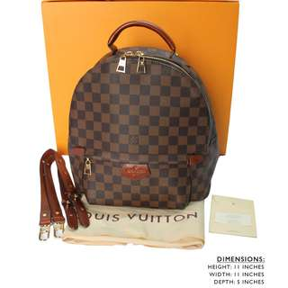9A LOUIS VUITTON DAMIER EBENE PALM SPRINGS EBENE MM BACKPACK