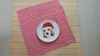 NEW Placemat Set Wave Red