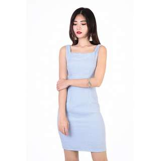 🚚 LEAH TEXTURED DRESS IN BLUE - MGP Label