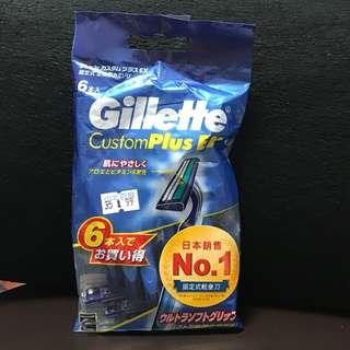 🚚 全新👍日本銷售第一 Gillette  吉列長柄潤滑輕便刀 6把入,荷蘭🇳🇱製造