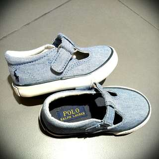 Like New Authentic Polo Ralph Lauren Kids Denim Shoes