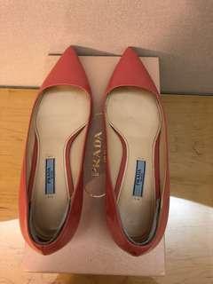 Pink Prada low heels