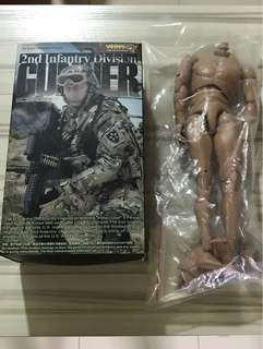 VeryHot 1/6 Scale 2nd Infantry Division Gunner + Body