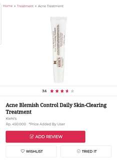 Kiehls Blemish Control Daily Skin-Clearing Treatment . Khiels kielhs acne