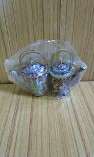 中國工藝精品,(景泰藍)小茶壺,高5Cm,一套2個計