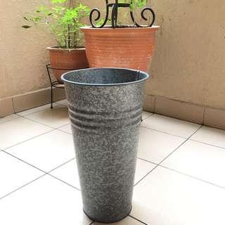 Ikea tall plant pot (galvanised steel) #Ramadan50