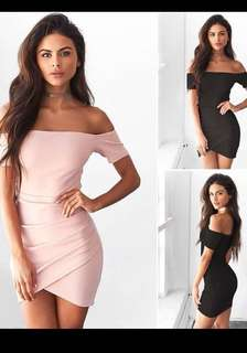 Bodycon off shoulder dress