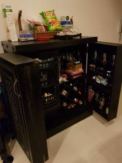Handcrafted bar counter