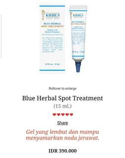 Kiehls Blue Herbal Spot Treatment . Khiels kielhs acne