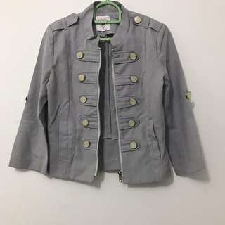 ROMP JACKET IN GREY - FIT TO M