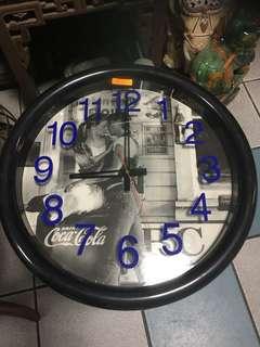 Vintage coke walk clock