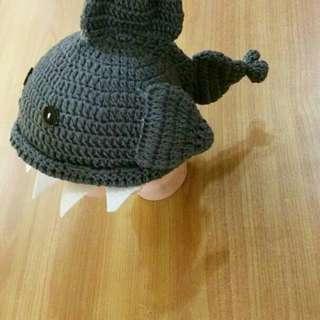 baby shark crochet hat