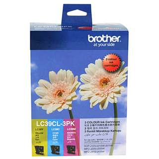 Brand new Genuine Brother Printer LC39 Tri-Colour Ink 3 Pack