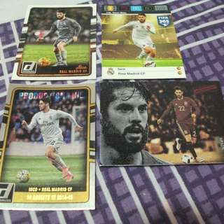 Isco Panini trading cards for sale/trade (Lot of 4 cards)
