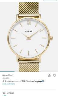 Gold Cluse Watch