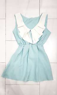 Mint Peplum Top