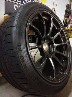 """19"""" RAYS ZE40 with Continental Sports Contact 6"""