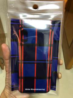 White mountaineering I phone X case (from Japan)可放八達通,付有防磁卡