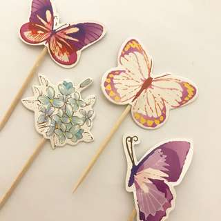 BN Butterfly Cupcake Toppers Cake Toppers