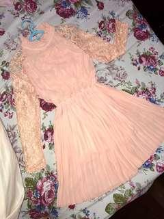 Korean Pink Dress 👗