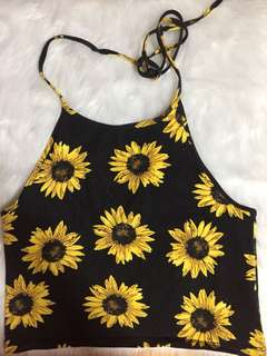 ✨F21✨ Sunflower Halter Top