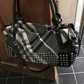 Authentic Limited Burberry Black Studded Bag