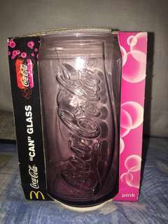 "McDonald's limited edition Coca-Cola ""can"" shaped glass (Pink) #ramadan50"