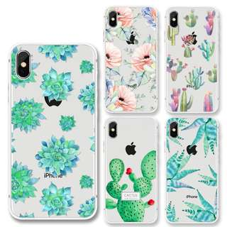 [PREORDER] Cactus pattern iphone soft phone case
