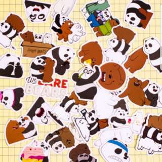 30pcs Cartoon Sticker - We Bare Bear