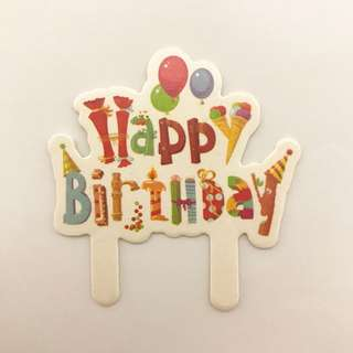 BN Happy Birthday Cupcake Toppers Cake Toppers
