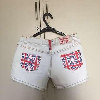 UK light denim shorts